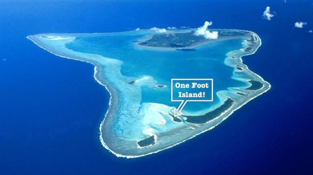 One Foot Island Aerial View