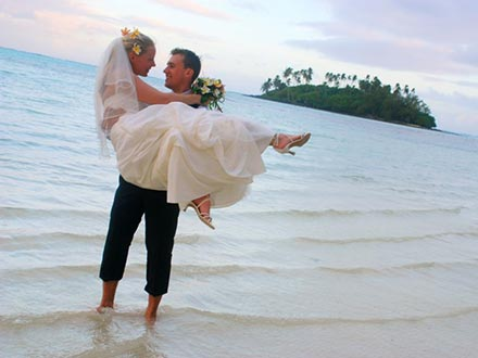 Muri Beachcomber wedding